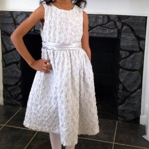 Rare Editions Girls Silver Easter Party Dress Sz6